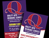 Quality Auto Insurance Business Cards