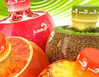 Plastic bottle design for fruit drinks