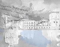 Illustration for travel magazine.