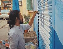 Wall graffiti for G.A.P.