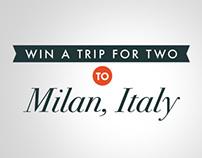Archipedia: Milan Sweepstakes Promotional Design