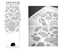 Coalesce Silkscreened poster limited 60 copies
