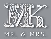 MK wedding logo