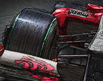 F1 constructor Illustrations