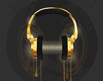 Golden Headphones - Personal Project