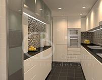 Interior design,kitchen and wc