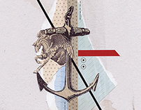 Handmade collage for Brando Bookazine