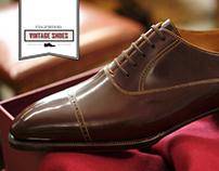 Vintage Shoes Logo & Ad