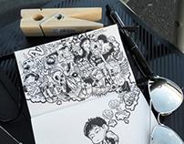 2011-2012 DOODLES Batch 3 : Moleskin Drawings