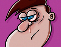 Cartoon Self Portrait - Rejected!