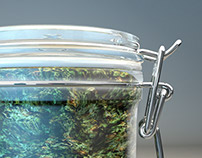 3D Render - Glass Containers