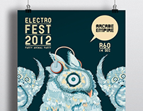 Electronic music festival Posters