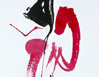 "A series of ""Handwriting""(red) Paper, ink, size 420h600"