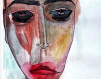 Smeared Lipstick & Running Mascara