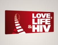 Love, Life & HIV branding