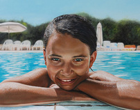 Young girl in a swimming pool / Francesca