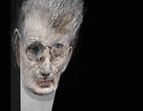 Samuel Beckett Portrait.