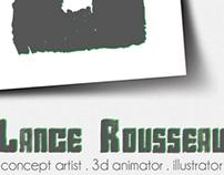 Business card design for Lance Rousseau