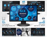 Six Powerpoint & Keynote Template