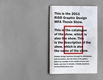 RISD Graphic Design MFA Thesis Show
