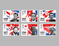 RSA Stamps - British First Sporting Champions