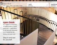 open book website design