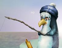 Pinguins na pesca