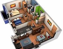 Infografías de viviendas en 3D