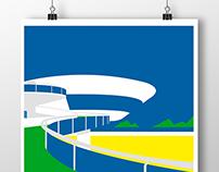 Cartel homenaje al Arq.Oscar Niemeyer