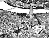 London: Trafalgar Square and Strand illustrations