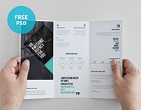 Tri-fold Brochure Template | Freebie