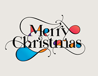 Merry Christmas by Moshik Nadav Typography