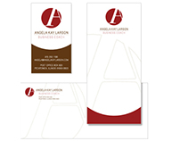 Freelance identity design project including stationery