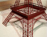 Eiffel Tower: Laser cut from paper