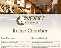 Nobu Budapest newsletters and flyer