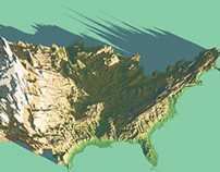 3D Map of United States (USA)
