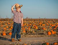 Pumpkin Patch Themed Family Portrait