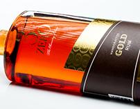 3ZERO Gold Rum packaging