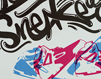 Lettering For the love of Sneakers.