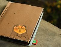 Handmade Artist book titled Dilemma of a young Designer