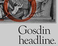 'GOSDIN'-Headline Font.
