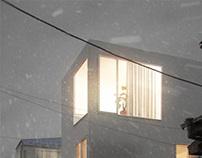 Moriyama House by Ryue Nishizawa in 3ds Max
