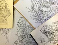 Pen and Pencil Sketch 2012