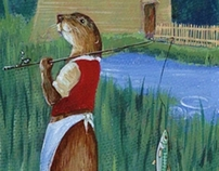 Otters at Stanway Mill