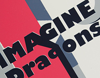 Concept for Imagine Dragons Gig Poster