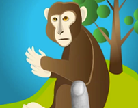 Rhesus Macaque (Educational App Design)