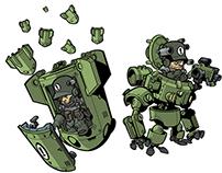 Cartoon war game idea