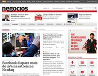 Website Jornal de Negócios