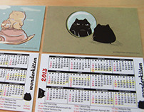 Illustration Pocket Calendar (set of 2), Giveaway!