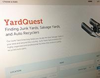 YardQuest - Landing page redesign